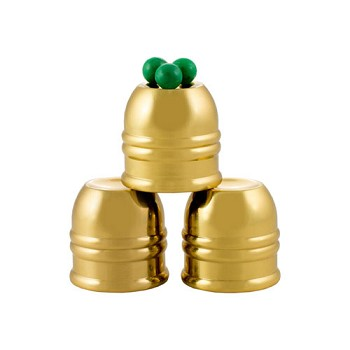 Cups and Balls Set - Mini Brass