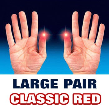 D'Lite - Light from Fingertips LARGE PAIR Classic Red