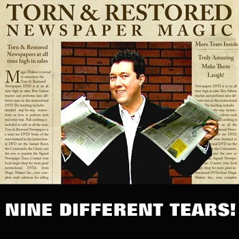 DISCONTINUED DVD- Torn and Restored Newspaper
