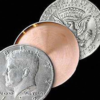 Expanded Coin Shell- Half Dollar HEADS