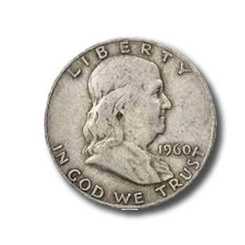 DISCONTINUED U.S. Franklin Silver Half Dollar