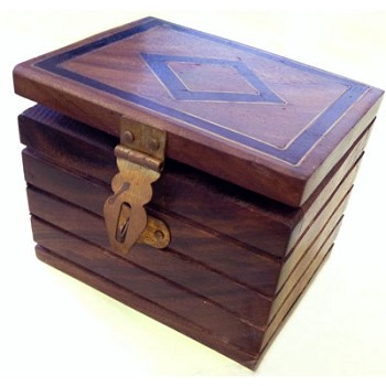 Inlaid Locked Box