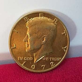 SOLD Kennedy Half Dollar- Gold Coated *PREOWNED*
