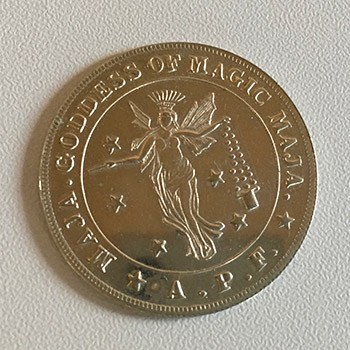 Maja Goddess Of Magic Coin *PREOWNED*