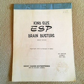 King Size ESP Brain Busters (Hades) - USED MANUSCRIPT