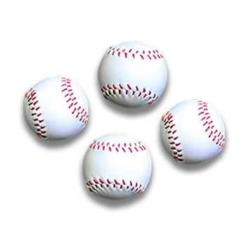 Balls- Leather Mini Baseballs SET OF 4