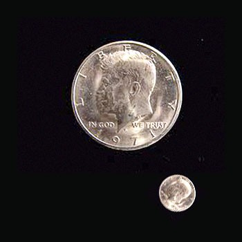 Miniature Half Dollars - Set of 3