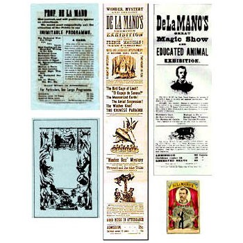 Antique Poster Set - DE LA MANO
