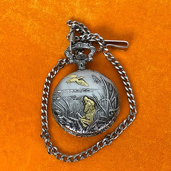 SOLD Card To Pocket Watch Case *PREOWNED*