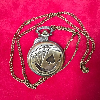 Royal Flush Pocket Watch