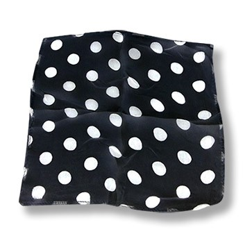 Silk- Black With White Dots 12-Inch
