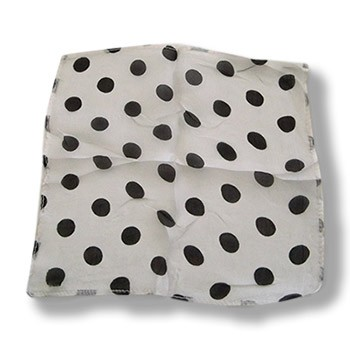 Silk- White With Black Dots 12-Inch