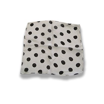 Silk- White With Black Dots 9-Inch