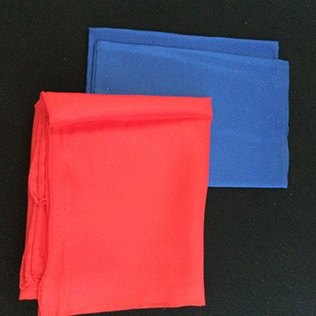 "SOLD Pair Of 24"" Silks- Blue, Red - PREOWNED"