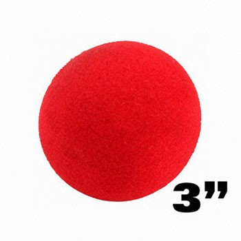 Sponge Balls- 3 Inch RED Set of 4