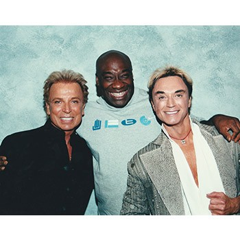 Siegfried and Roy Photo with Michael Clarke Duncan