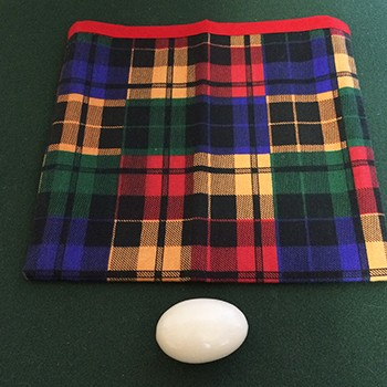 SOLD Tarbell Style Plaid Egg Bag With Egg - PREOWNED