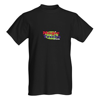MagicTricks.com Logo T-Shirt (LARGE BLACK)
