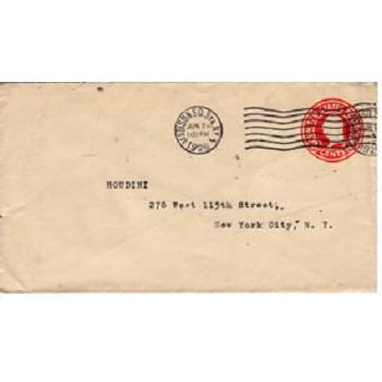 OS Houdini Envelope June 24 1926